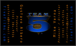 Team Five Business Card Front